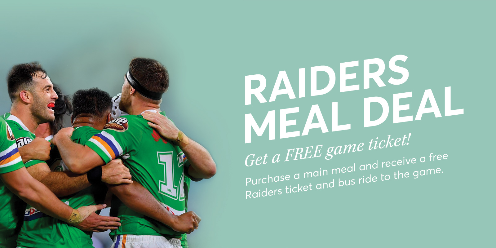 Raiders Ticket & Meal Deal Rectangle
