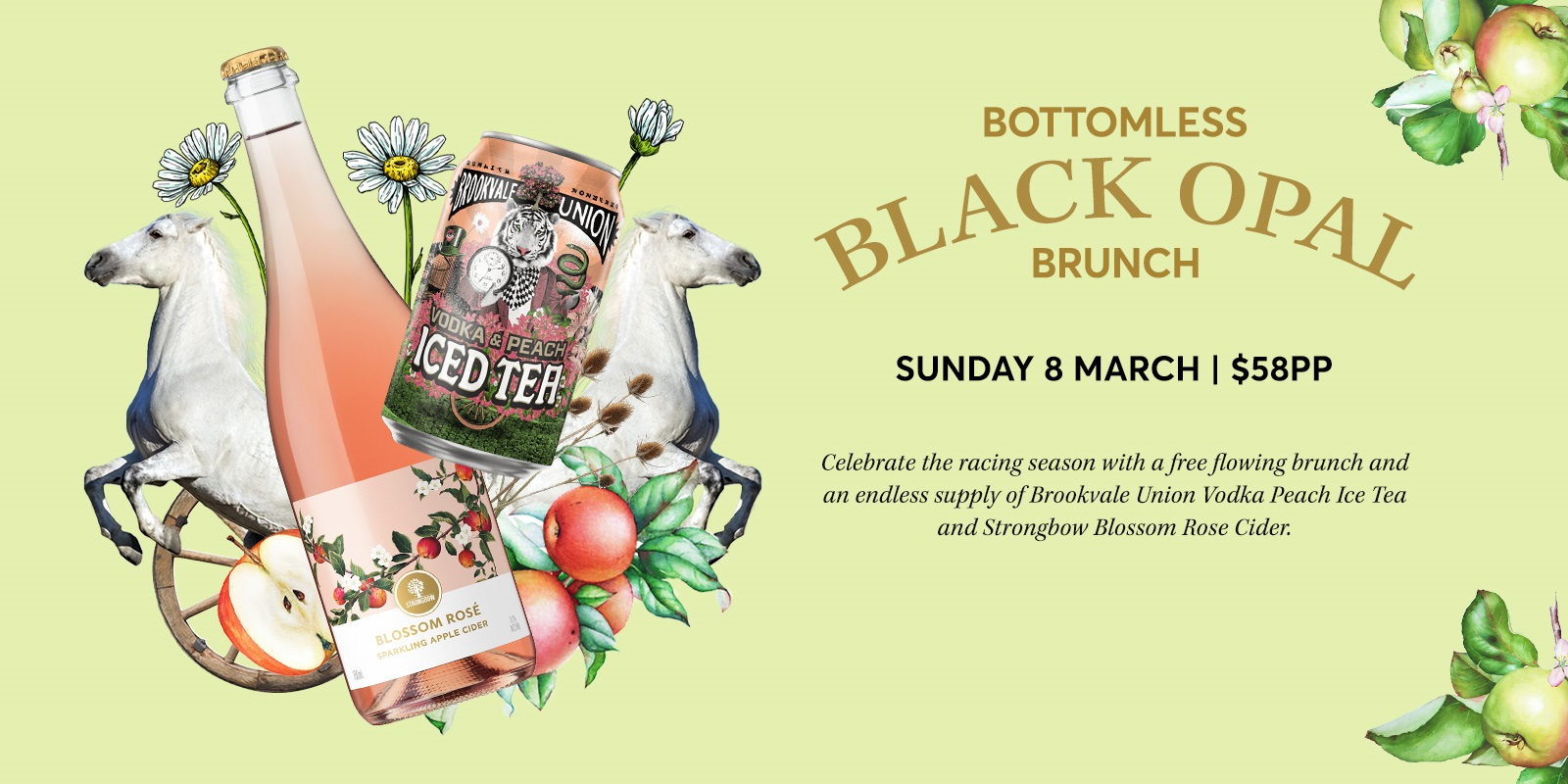 Bottomless 'Black Opal' Brunch Rectangle
