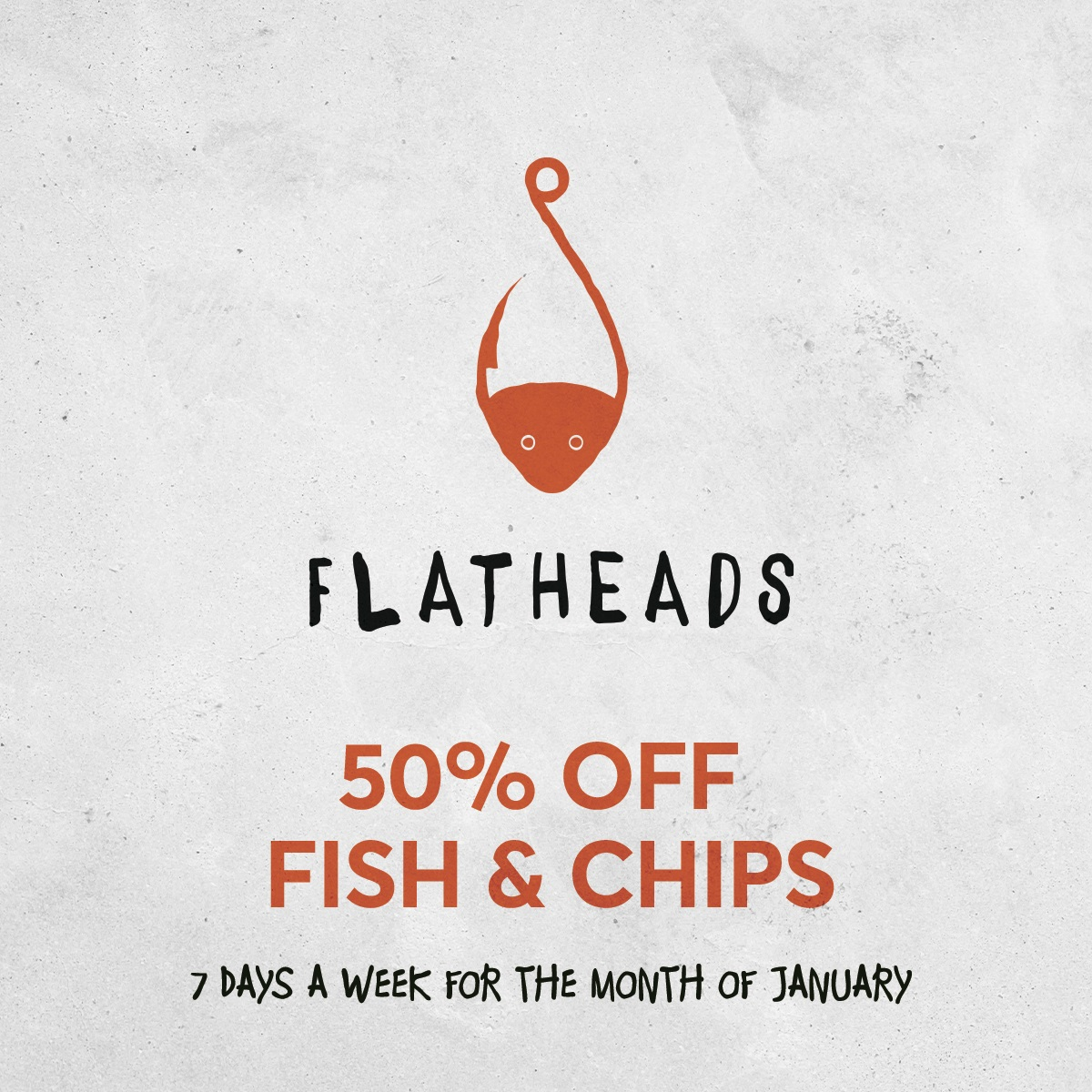 50% OFF FISH & CHIPS Square