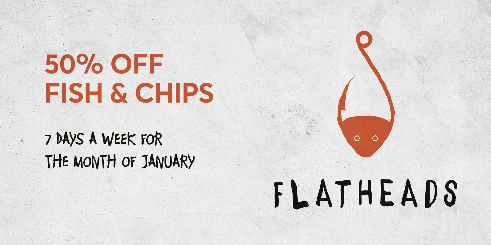 50% OFF FISH & CHIPS Rectangle